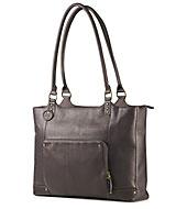 Kožená dámská taška HP - hnědá (F3W12AA)