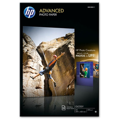 Fotopapír HP Advanced Photo - lesklý, 20 listů A3 (Q8697A)