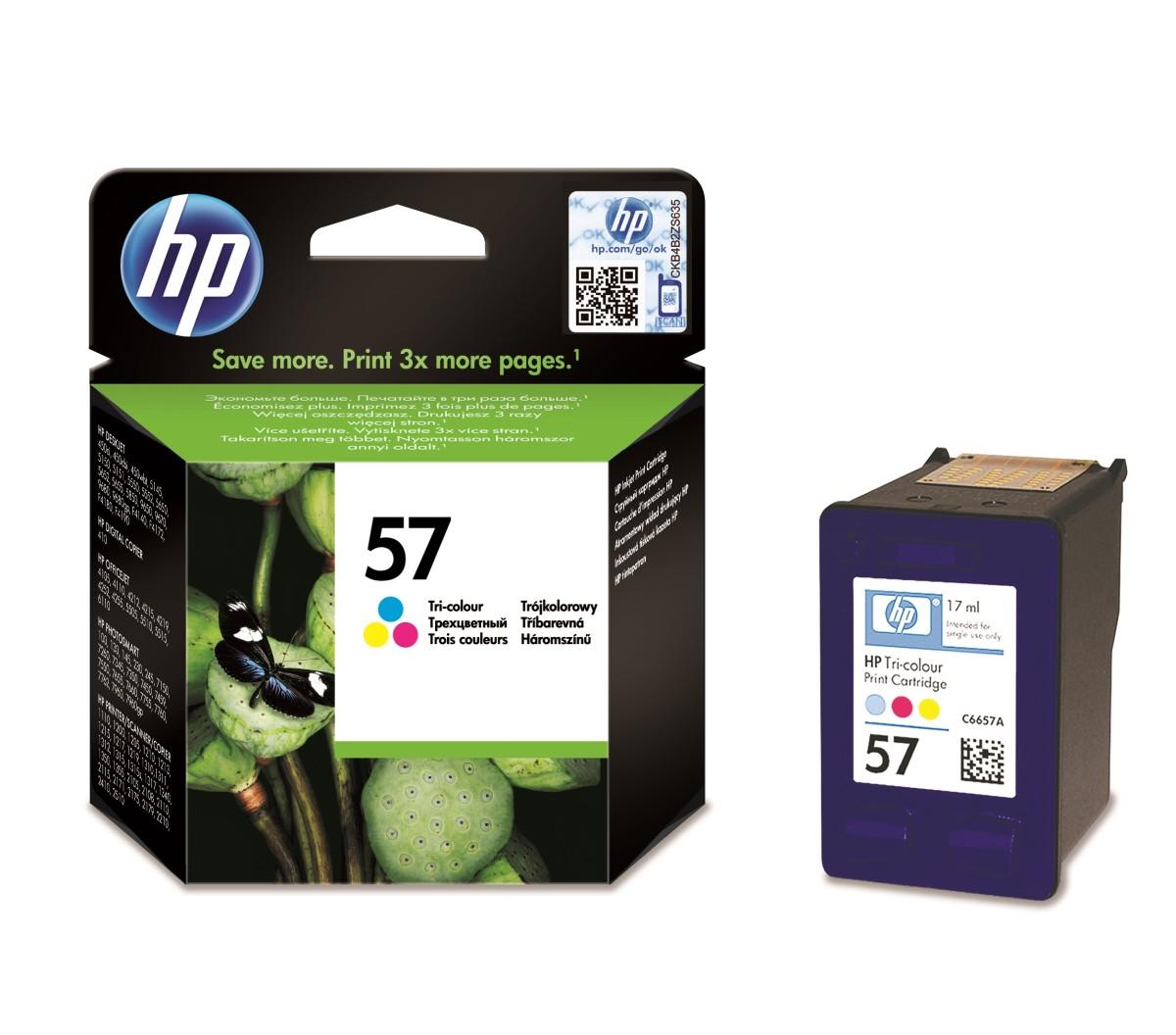 Inkoustová náplň HP 57 tříbarevná (C6657AE#UUQ)