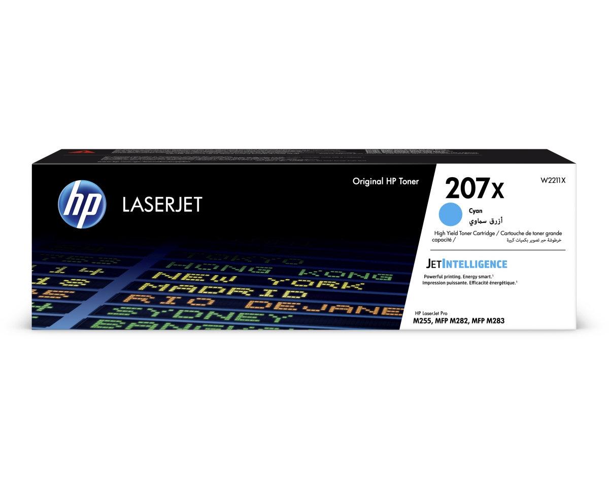 Toner do tiskárny HP 207X azurový (W2211X)